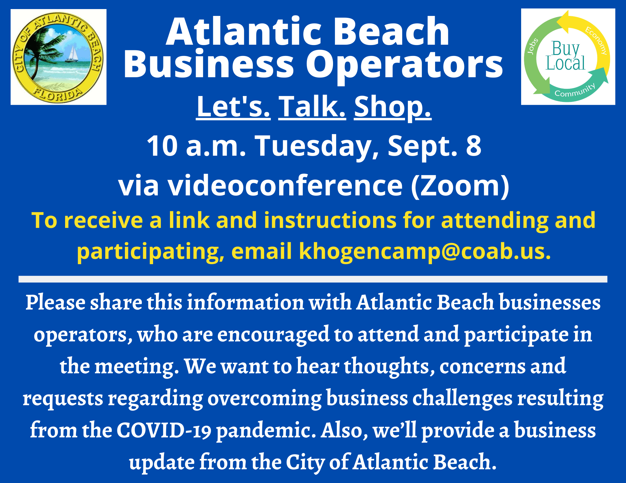 AnnouncementZoomBusinessMeeting090820